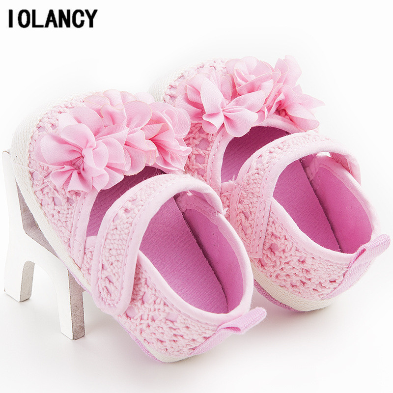 0-1 Years Old Baby Footwear Shoes Baby Walker Soft Soled Canvas Flower First Walkers for Babies Prewalks Crib Shoes BS102