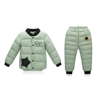 Boys Clothing Set Down Jacket For Boys Autumn Down Coat Trousers Children S Winter Jacket Windproof
