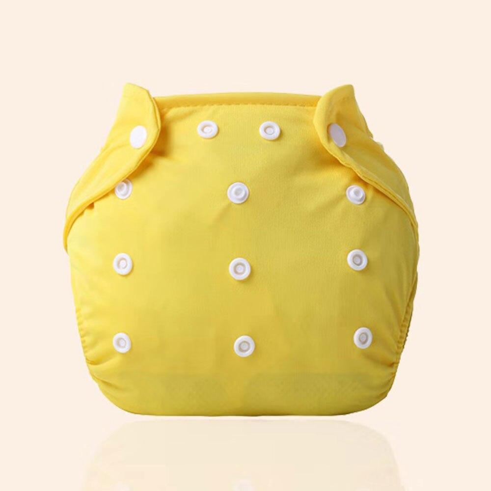 Детские тканевые подгузники детские подгузники хлопковые многоразовые подгузники с карманами моющиеся регулируемые детские подгузники - Цвет: yellow