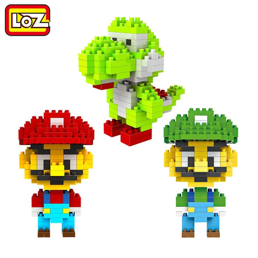 Super Mario Bros <font><b>Toy</b></font> <font><b>Figure</b></font> Model <font><b>Luigi</b></font> Mario Building Blocks Game Original Retail Box 9+ Gift LOZ 2015 NEW