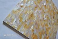 Màu vàng hoa văn gạch 100% biển tự nhiên shell yellowlip mẹ của gạch ngọc cho nội thất trang trí ngôi nhà tường gạch