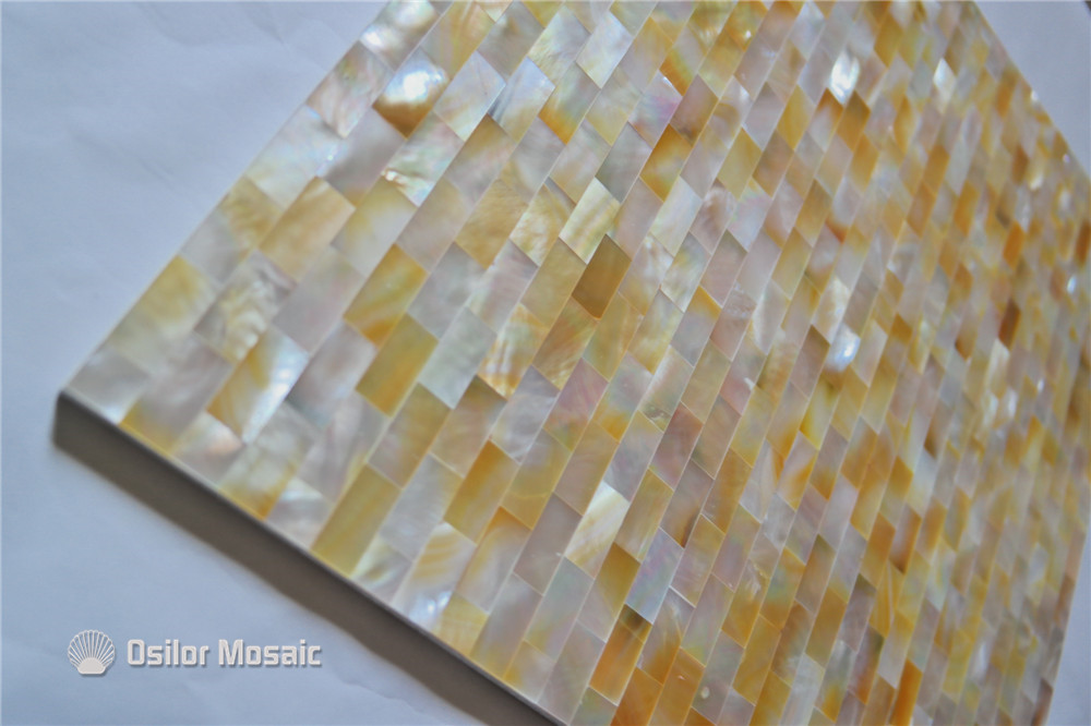 yellow color brick pattern 100% natural sea shell yellowlip mother of pearl tile for interior house decoration wall tile free shipping wave pattern 100% natural penguin shell and chinese freshwater shell mother of pearl tile wall tile