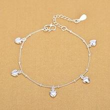 Модный женский очаровательный браслет с сердцем для женщин из
