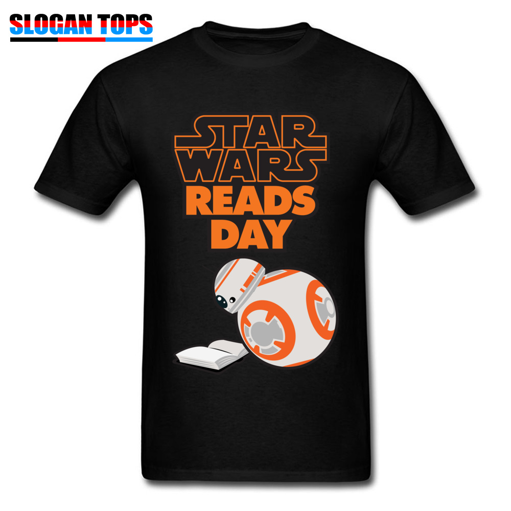 Funny Men T Shirt Star Wars Tops Tees Reads Day Letter T Shirts BB8 Robot 100 Cotton Round Neck Short Sleeve Normal Clothes in T Shirts from Men 39 s Clothing
