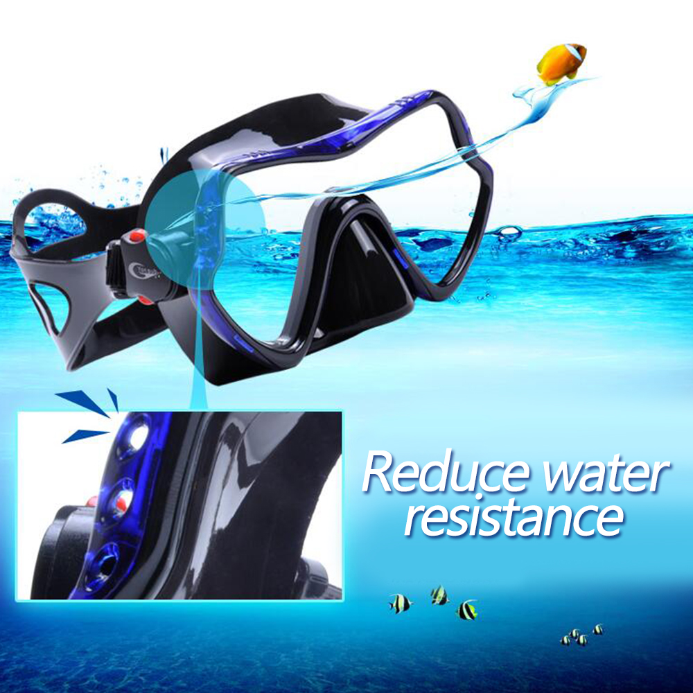 YFXcreate Professional Scuba Diving Mask and Snorkels Anti-Fog Goggles Glasses Diving Swimming Easy Breath Tube Set 3