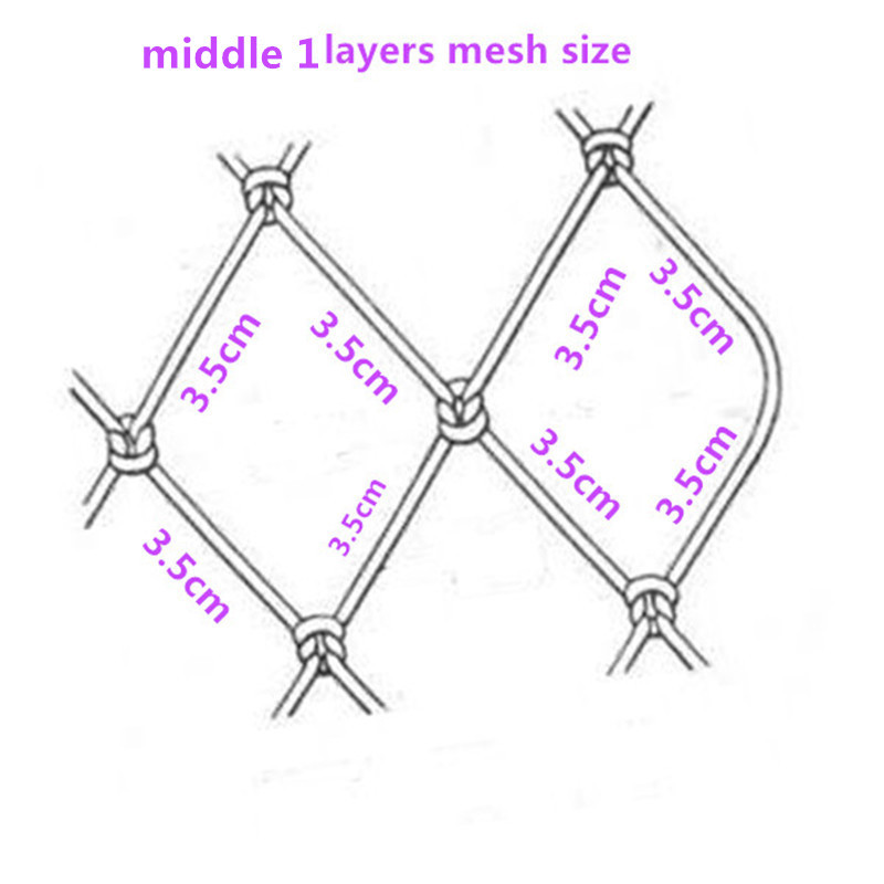Quatily gill net H2m L95m 3 layer 3 5cm mesh sink net fish trap sticky fishing net china outdoor red de pesca fishing network in Fishing Net from Sports Entertainment