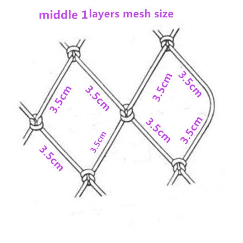 Quatily Kiemennetz H2m * L95m 3 Schicht 3.5cm Ineinander - Angeln - Foto 6