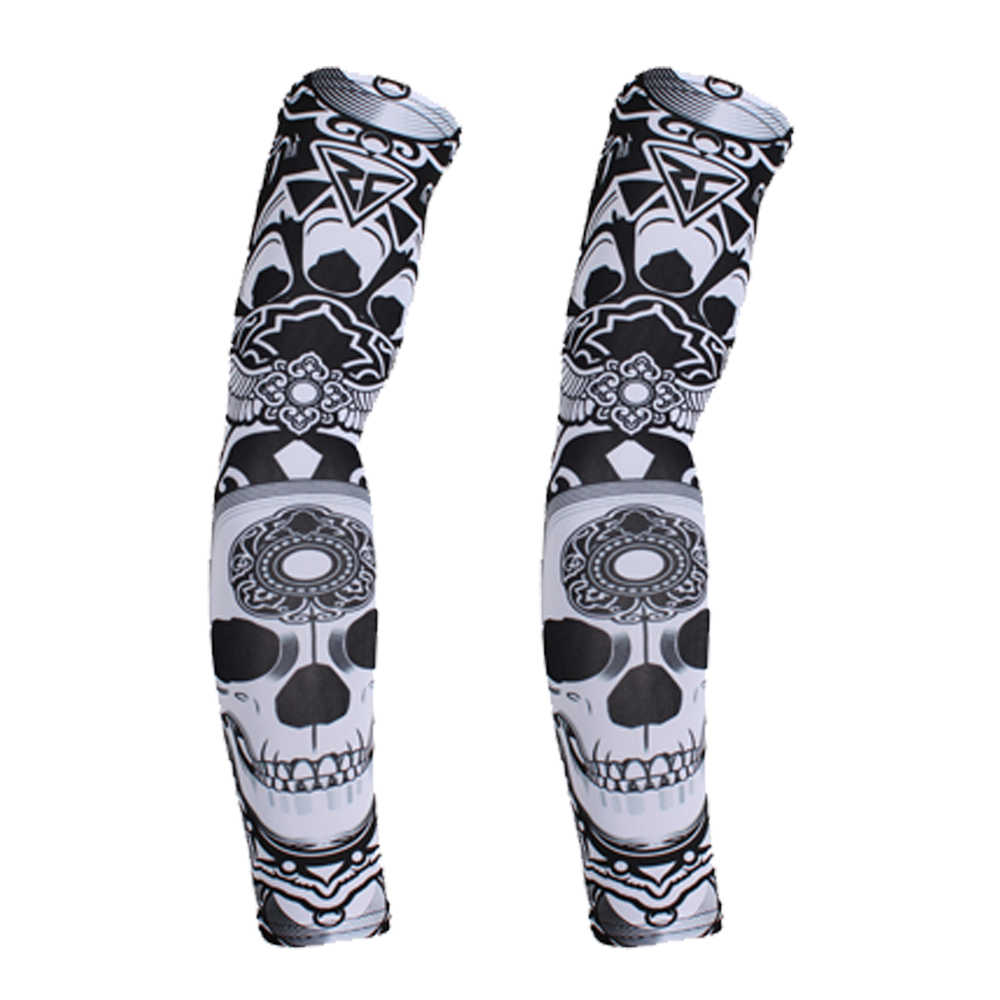 261eb01901 Outdoor Sport Arm Warmers Sleeves Cycling Running Bicycle MTB Motorcycle UV  Sun Protection Cuff Cover Protective