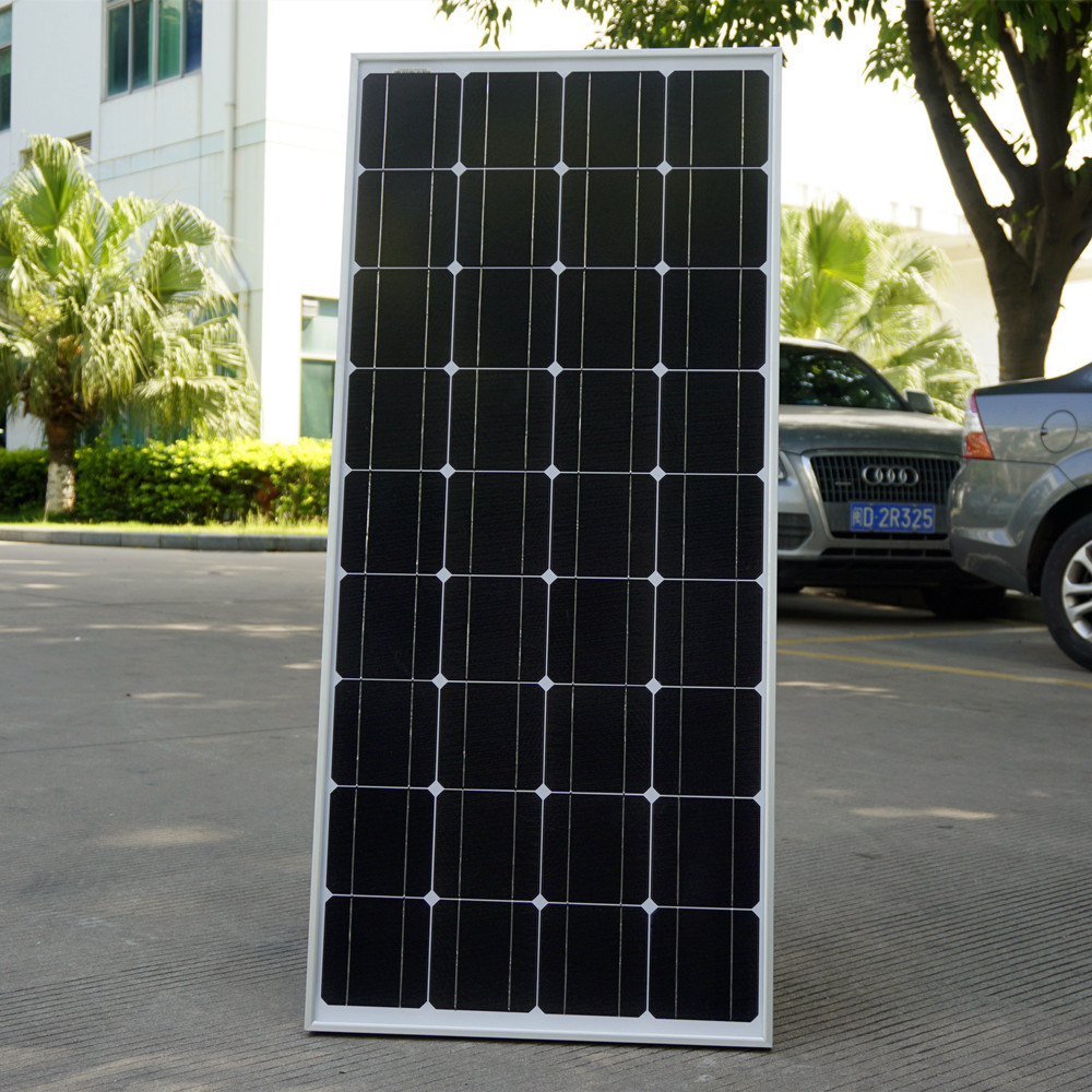 2018 100W Monocrystalline Solar Panel  for 12V Battery RV Boat , Car, Home Solar Power &Free Shipping