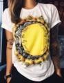 Summer casual print t shirt women tops tees short sleeve T-shirt printed summer loose plus size T shirts 63
