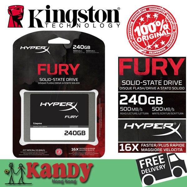Kingston HyperX SSD Fury 256 ГБ-240 ГБ SATA внешний жесткий диск дискотека duro экстерно ноутбук портативный твердотельный диск много