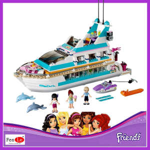 Friends set Girl Series 661pcs Building Blocks toys Dolphin Cruiser kids Bricks toy girl gifts Compatible 41015