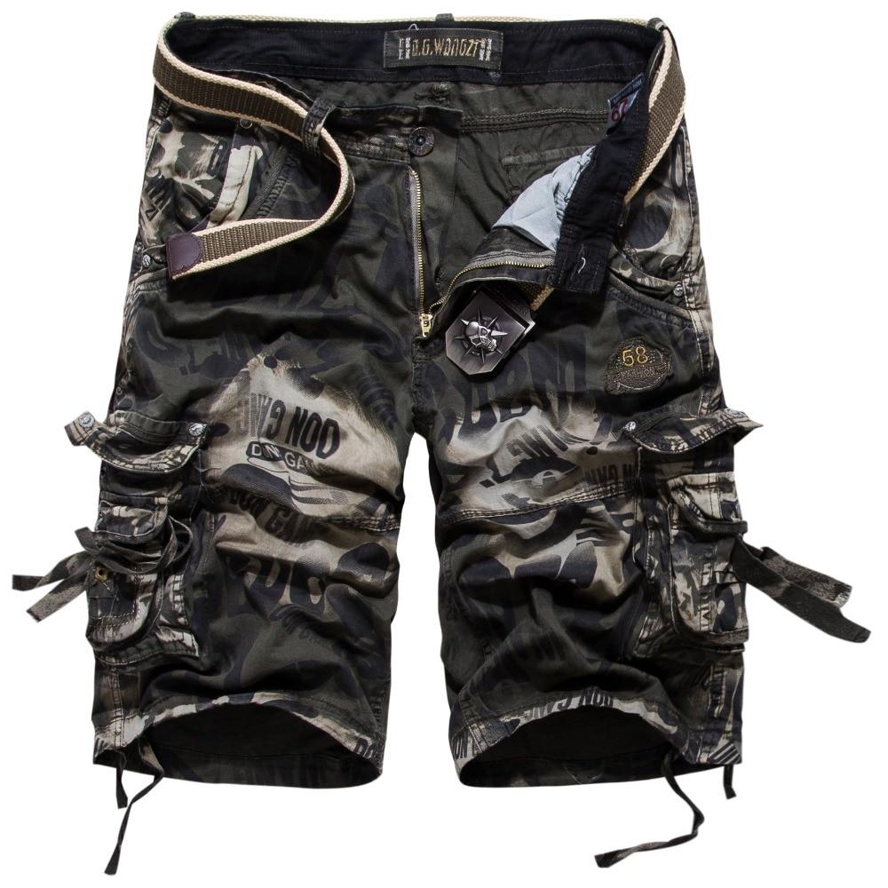 Модные камуфляжные шорты-карго Для мужчин новый Рубашки домашние мужские летние свободны ...