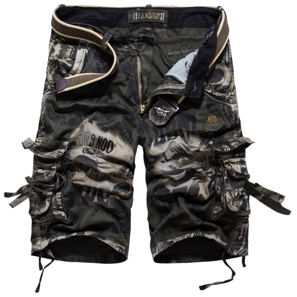 Fashion Camouflage Cargo Shorts Men New Casual Shorts Male Summer Loose Work Shorts Man Military Short Pants Plus Size 29-42