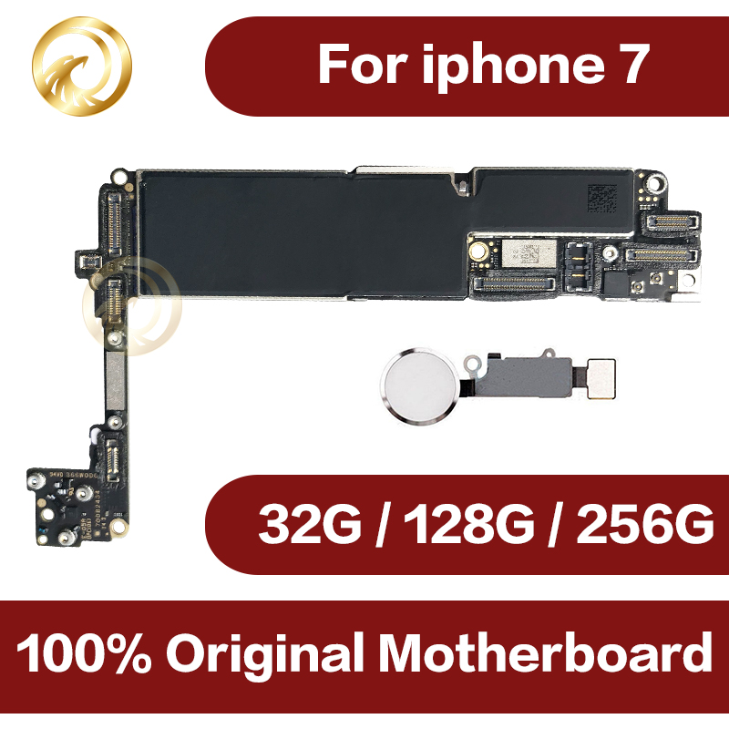 Original unlocked for iphone 7 Motherboard with Touch ID,for iphone 7 Mobile phone motherboard with Chips,32GB/128GB/256GB title=