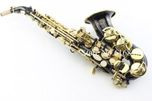 Selmer 54 Straight sax soprano Saxophone black nickle gold key plated professional sax mouthpiece gold lacquer brass instruments