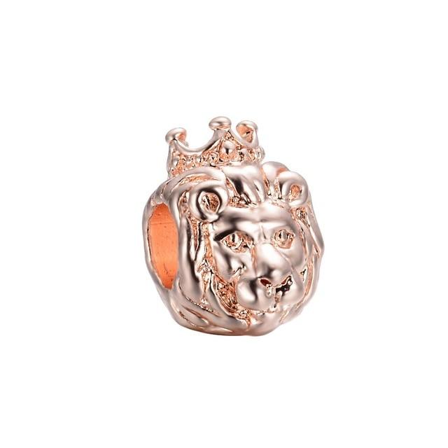 205717a38 ... ireland free shipping 1pc rose gold lion king of jungle big hole bead  fits european pandora