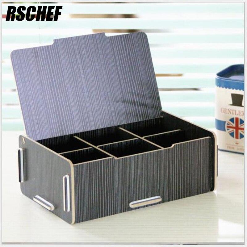 Us 10 67 45 Off Rschef Holz Kreative Boxen Kleinigkeiten Schmuck Visitenkarten Boxen 6 Boxen In Aufbewahrungsboxen Behälter Aus Heim Und Garten