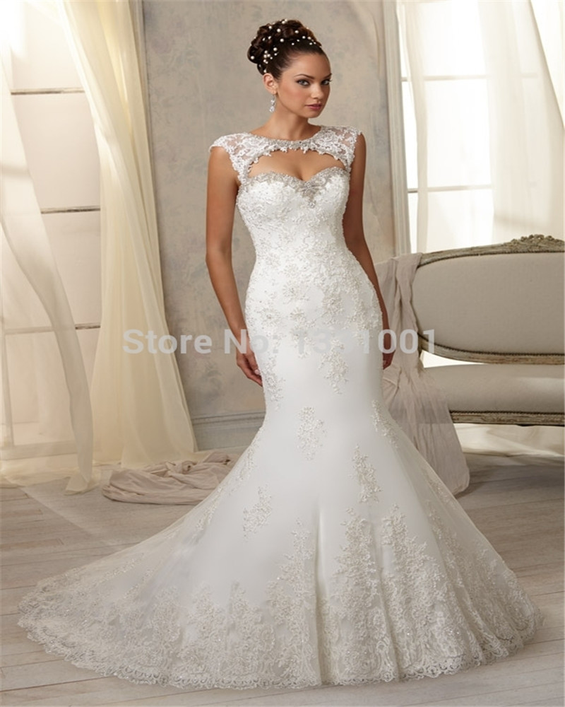 Buy vestido de noiva 2016 romantic for Plus size beaded wedding dresses