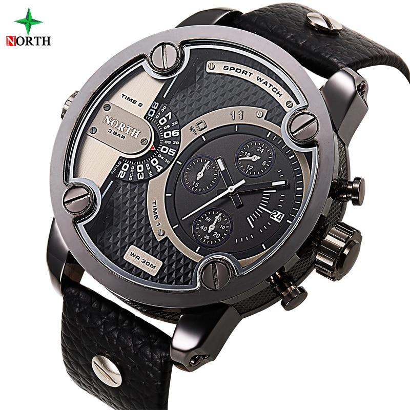 NORTH Male Sport Wristwatch Luxury Brand Fashion Quartz Clock Man 30M Water Resistant Stainless Steel Military Sport Watch Men цена