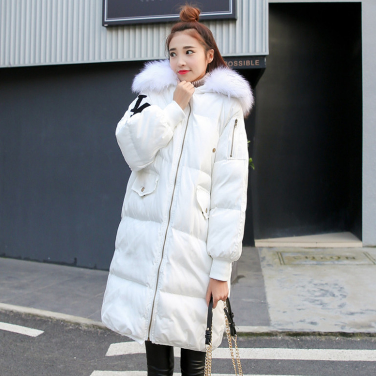 Winter Pattern Even Hair Cap Lead Lantern Sleeve Down Jackets Girls Long Fund Easy Will Code Thickening Bread Take The Tide