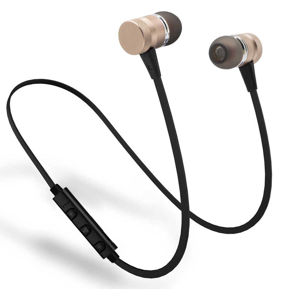 New Fashion M98 Wireless Bluetooth Earphones Metal Magnetic Sport Running Headphones Stereo Super Bass Headsets Earbuds With Mic