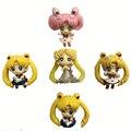 5 шт. Sailor moon действий figuren брелок set 2016 Новый ПВХ Japaness аниме сейлор мун petit figuarts украшение партии