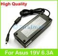 19 V 6.3A 120 W AC laptop adaptador de alimentação para Asus N56 N56D N56J N56X N56V N750 N76 N76V N76YI NX90 NX90JQ NX90JN carregador