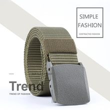For Men Fashionable Elastic Knitted Belt Military Uniforms Tactical Belts Pins Buckle Waist Male Canvas