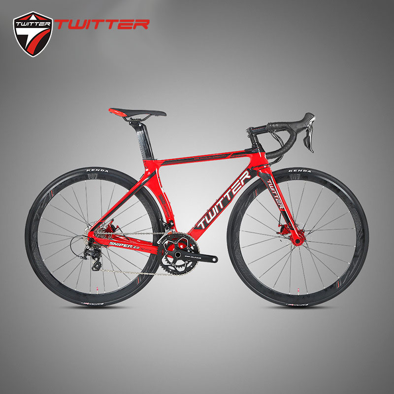 Twitter Sniper2.0 Disc 700c Full Carbon Road Bike 105-5800 22 Speed Thru-axle Aero Carbon Frame Racing Bicycle