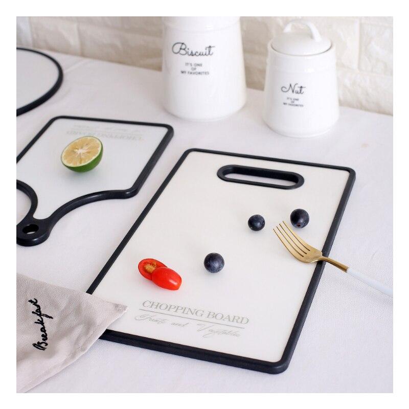 OUSSIRRO 1 pics bloc de bois antibactérien + plaque de sushi en plastique légumes fruits planche à découper