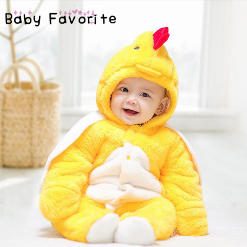 Baby Favorite Newborn Girls Boys Romper Winter Warm Thick Soft Animal Baby Cute Lovely Cosplay Jumpsuit Cosplay Infant Clothing baby winter rompers for boys girls cute expression print newborn down warm jumpsuit toddler overall thick cotton infant outfits