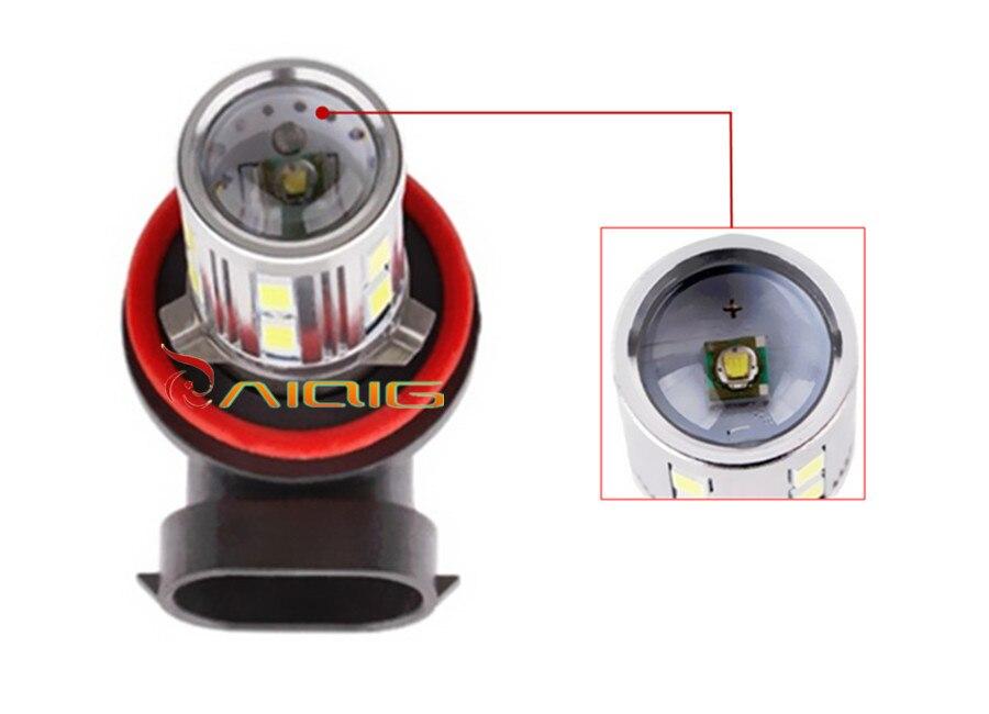 H11 Led Yüksək Güclü 12 SMD 5730 5W Cree çipləri LED Ksenon ağ - Avtomobil işıqları - Fotoqrafiya 2