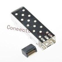 Conector SFP, superficie de montaje de 20 pines, SMD 1367073 1, montaje de jaula SFP Original, prensa