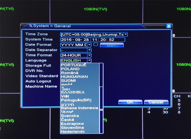 five in on ahd tvi cvi nvr dvr Language picture 02