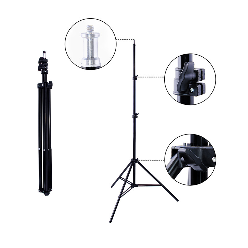 Image 4 - Viltrox L132T Bi Color Dimmable LED Video Light x2 +2x Light Stand +2x AC Adapter for DSLR Camera Studio LED Lighting Kit-in Photo Studio Accessories from Consumer Electronics