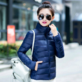 2017 New Hot Sale female Fashion Casual Down Cotton-padded Light Outerwear Jacket Ladies Work Waterproof Windproof Warm Coat