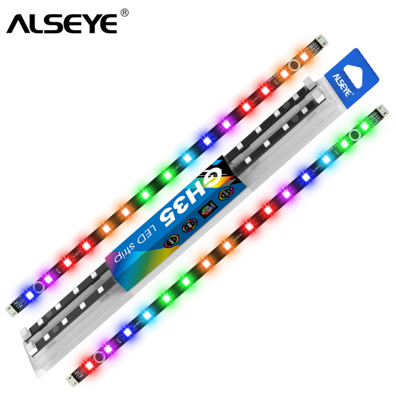 ALSEYE RGB Strips 35cm ARGB 60cm Cable Compatible With Ausu Gigabyte Mis Motherboard RGB Control 5v 3pin