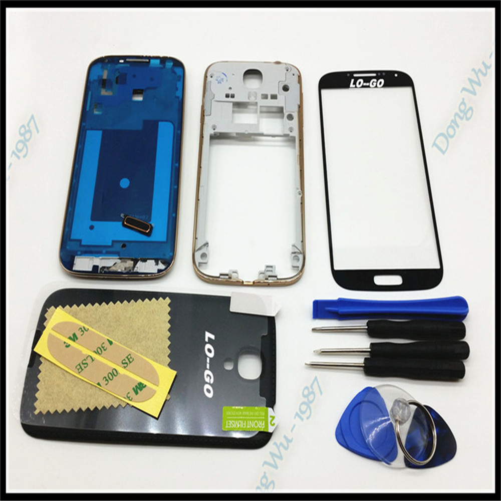 Full Housing Case Cover For Samsung Galaxy S4 i9505 Complete Cover back case Mid frame backplate