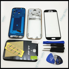 Full Housing Case Cover For Samsung Galaxy S4 i9505 Complete Cover (back case/Mid frame/backplate/faceplate)+Glass Lens
