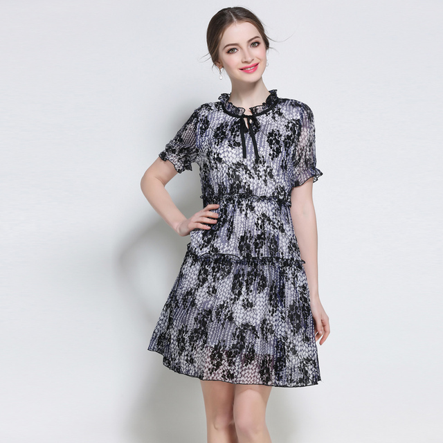 79648fa5d 5xl mujeres breves vestidos tallas grandes mujer europea extra grande  casual work dress ruffles longitud de