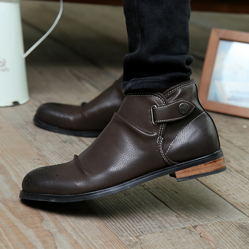 2017 Fashion Men Boots Office Brogue Shoes Handmade Split Leather Winter Oxford Ankle Size 39 44 Jl5562 In Chelsea From On