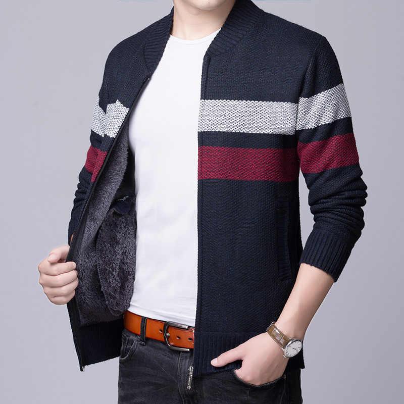 Liseaven для мужчин куртки свитер повседневное Стиль Зимние теплые пальто мужчин's кардиганы для женщин пальто мужской кардига