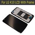 100% probado para lg k10 k410 k420n k430ds k430 pantalla lcd de pantalla táctil digitalizador con marco