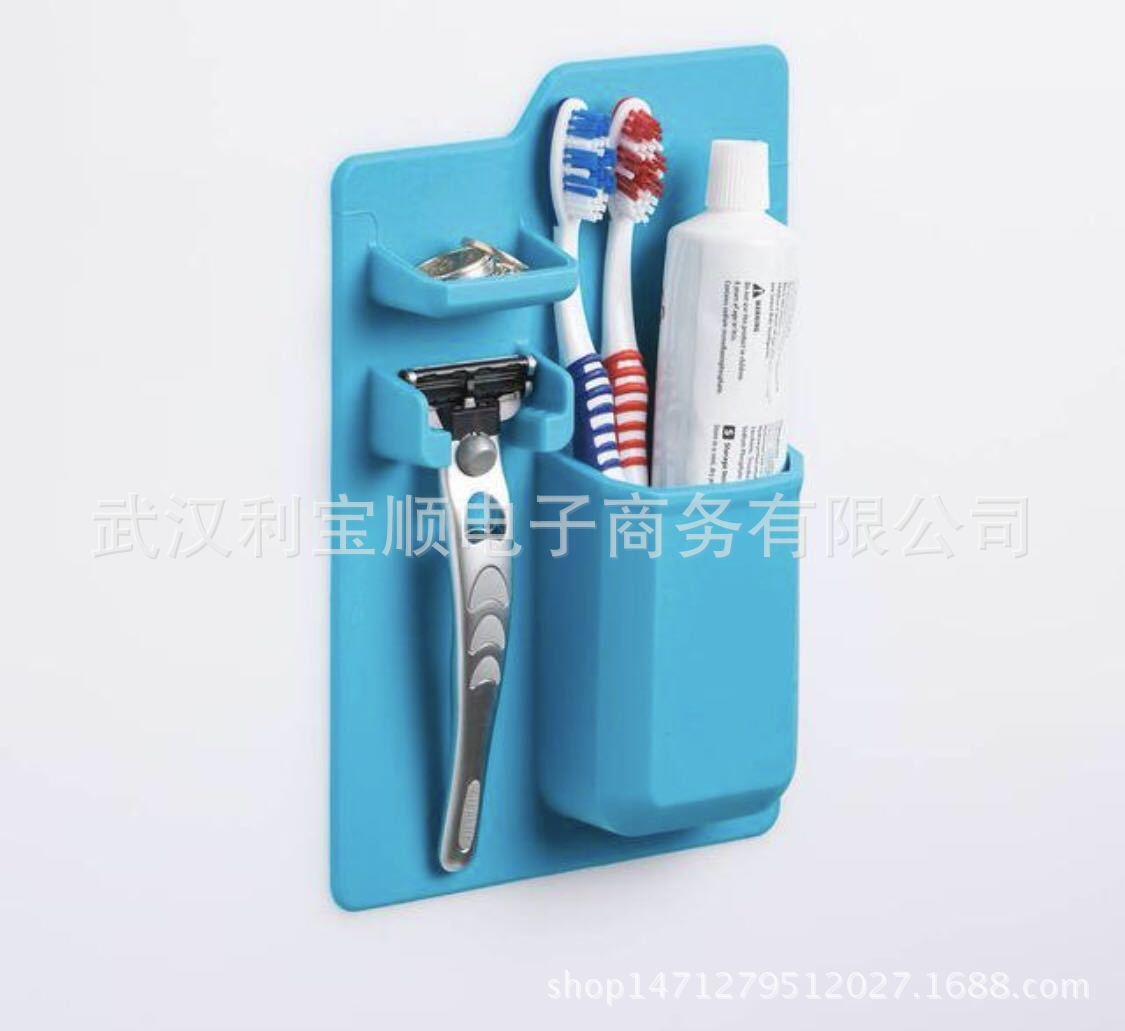 Badkamers, Wandmontage Type Silicone tandenborstel tandpasta scheren - Home opslag en organisatie