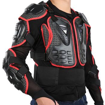 Kurtka motocyklowa mężczyźni zbroja na całe ciało pancerz motocyklowy Protector Shirt Motocross wyścigowy ochronny rozmiar ochrony S-3XL tanie i dobre opinie Wstrząsoodporny Gąbka MA05520 Polyester fibre plastic + Cotton + elastic mesh +Flannelette