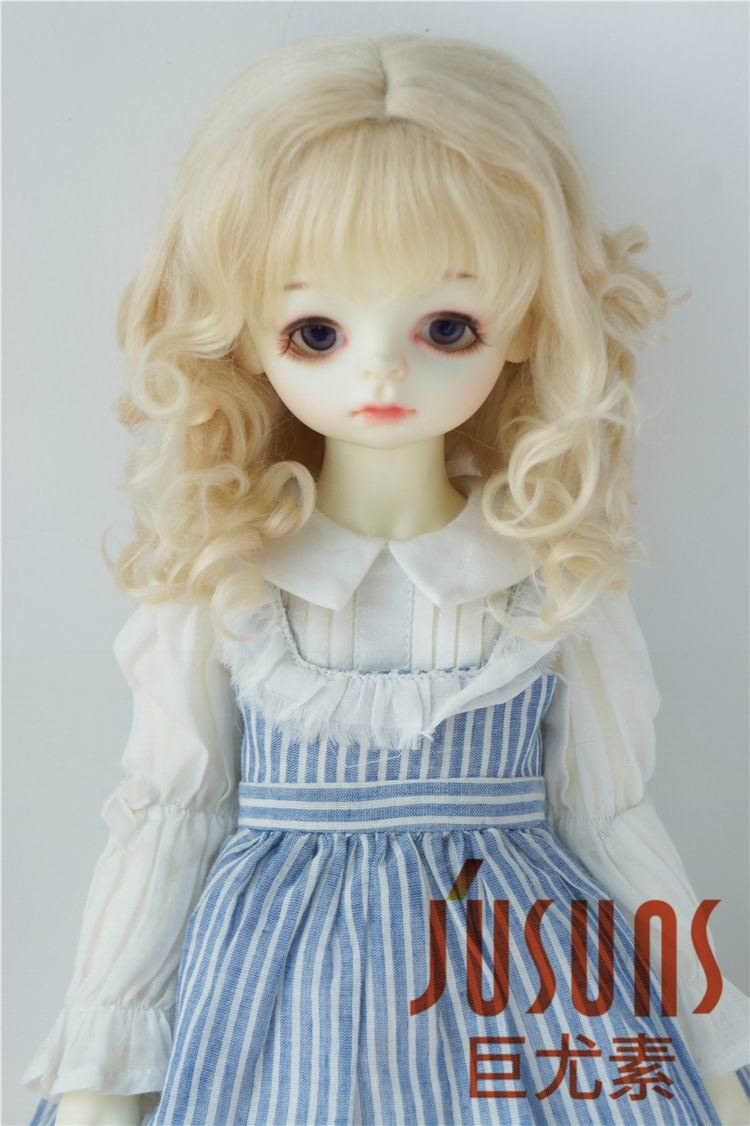 D20313 1/3 SD mohair doll wigs Princess Long curly bjd wig 8-9 inch doll accessories 8 9 bjd wig silver knights of england volume mohair wig spot