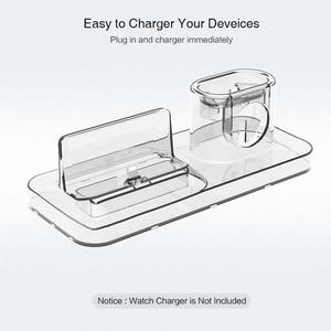 Image 4 - RAXFLY 3 w 1 magnetyczna ładowarka do telefonu iPhone Dock 3 w 1 bezprzewodowa ładowarka do Airpods ładowarka stojak uchwyt do Apple Watch