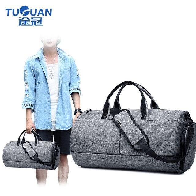 TUGUAN travel Bag Hot Sale fashion Men women weekend Bag black Color 22L Large  Capacity Men 1a3763da9ae44