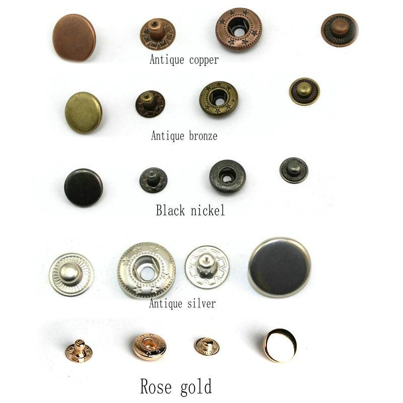 1000 компл./упак. 831 Металл Пресс шпильки швейная кнопку оснастки крепеж шитья кожи Craft Одежда Сумки